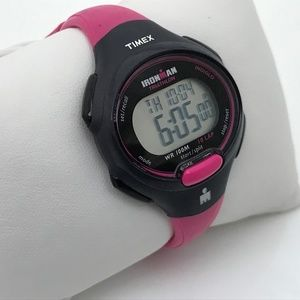Timex Ironman Ladies Watch Pink Black Sport Digita